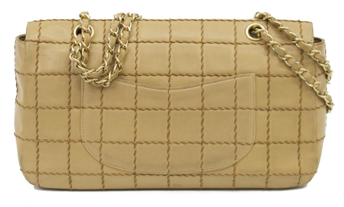 CHANEL SINGLE FLAP TAN QUILT LEATHER SHOULDER BAG - 2