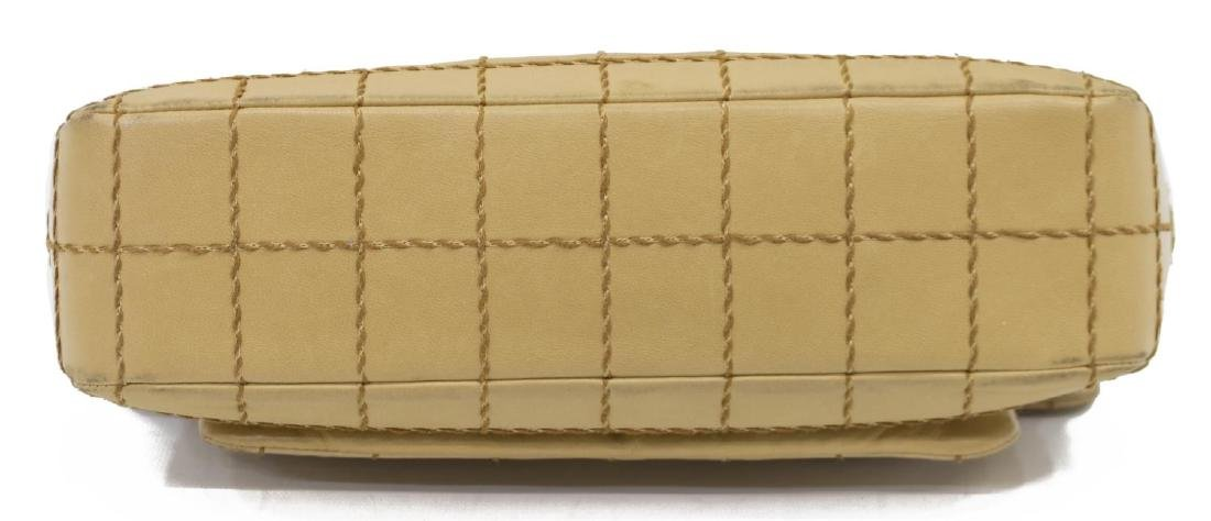 CHANEL SINGLE FLAP TAN QUILT LEATHER SHOULDER BAG - 3