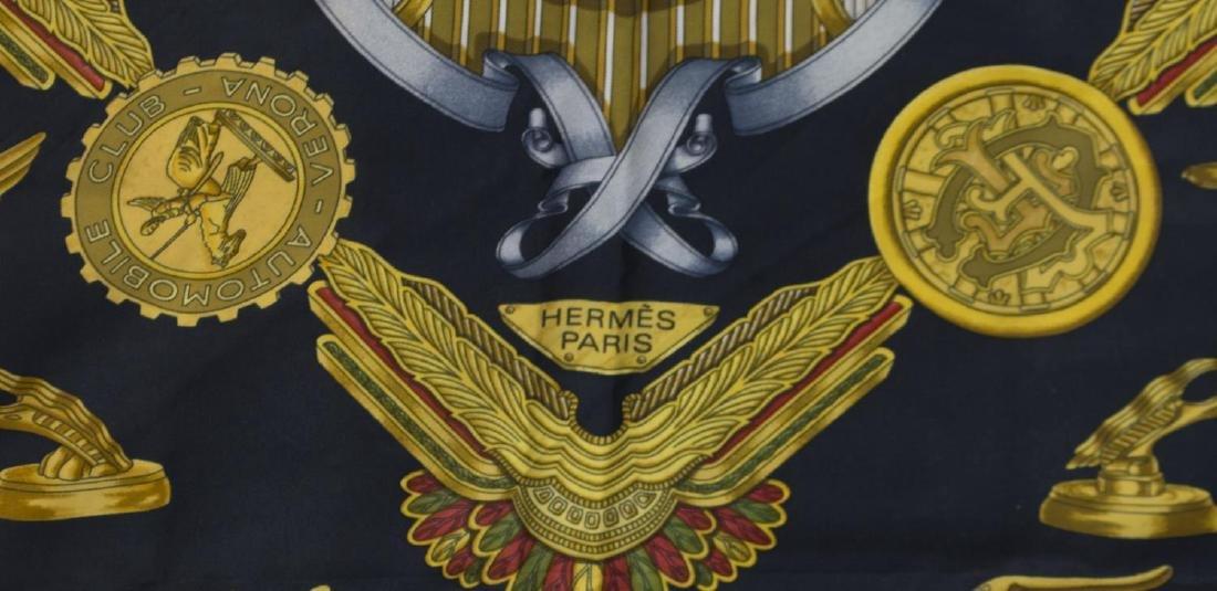 HERMES 'LES PARURES DU VENT' SILK TWILL SCARF - 3