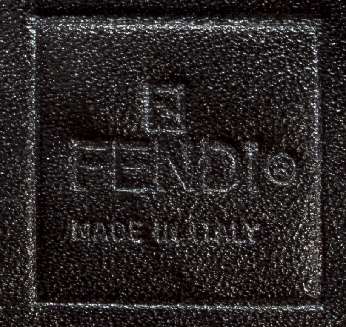 FENDI MONOGRAM CANVAS LEATHER TRIM SHOULDER BAG - 5