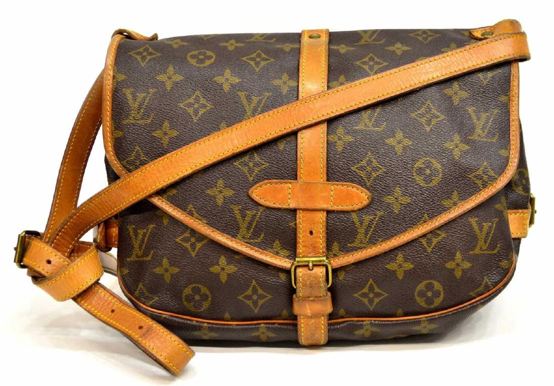 LOUIS VUITTON SAUMUR CROSSBODY MESSENGER BAG