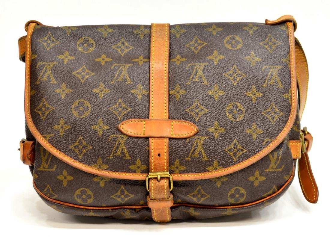 LOUIS VUITTON SAUMUR CROSSBODY MESSENGER BAG - 2