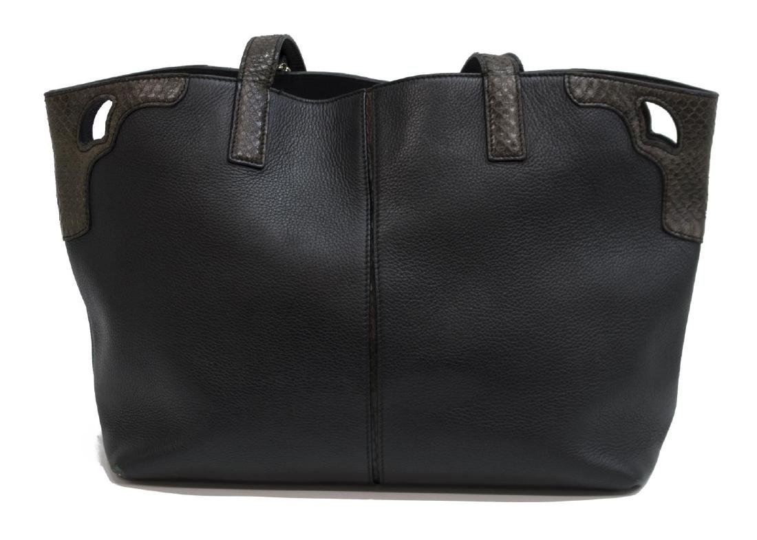 CARTIER PYTHON & LEATHER DOUBLE HANDLED TOTE BAG - 2