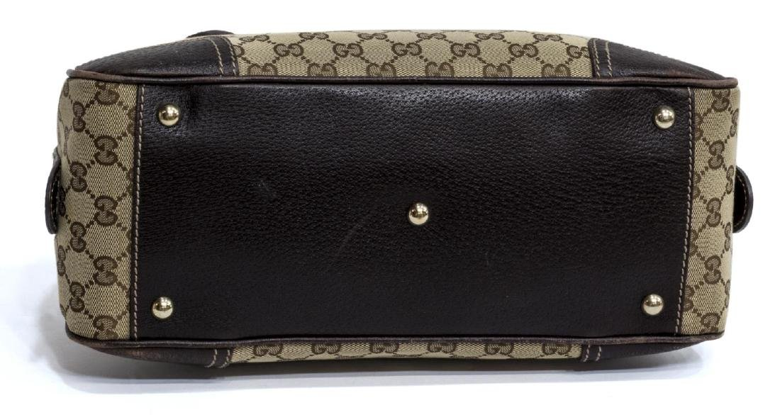 GUCCI PRINCY BOW BOSTON MONOGRAM CANVAS HANDBAG - 3