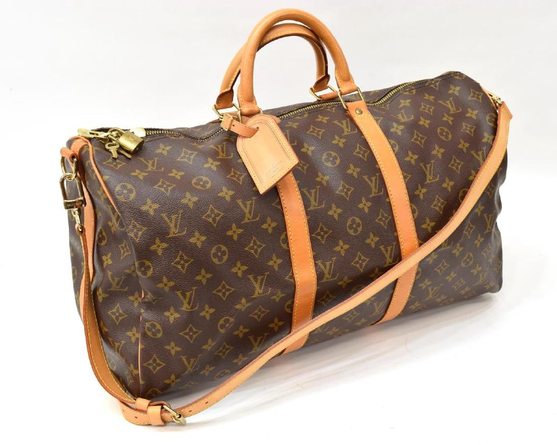 LOUIS VUITTON 'KEEPALL 50' MONOGRAM DUFFLE W/STRAP