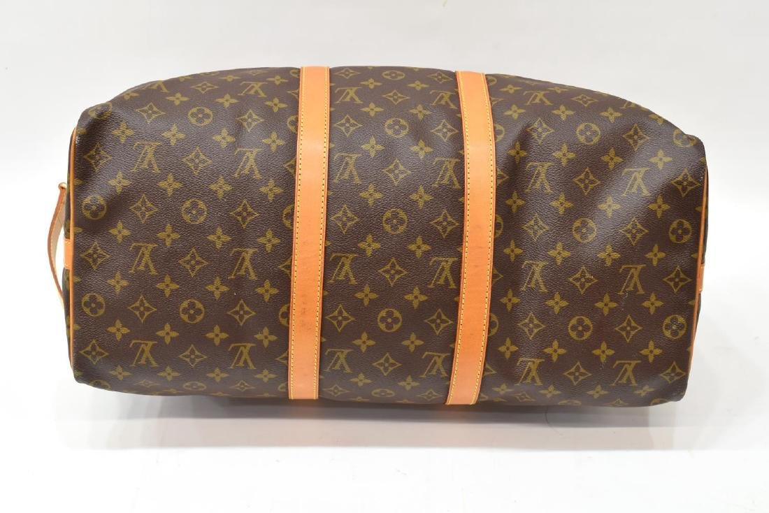 LOUIS VUITTON 'KEEPALL 50' MONOGRAM DUFFLE W/STRAP - 3