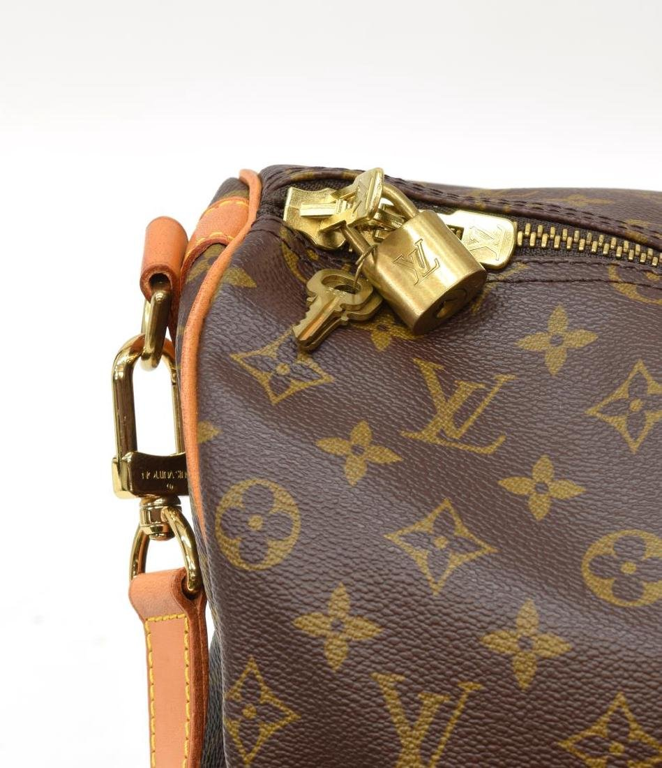 LOUIS VUITTON 'KEEPALL 50' MONOGRAM DUFFLE W/STRAP - 5