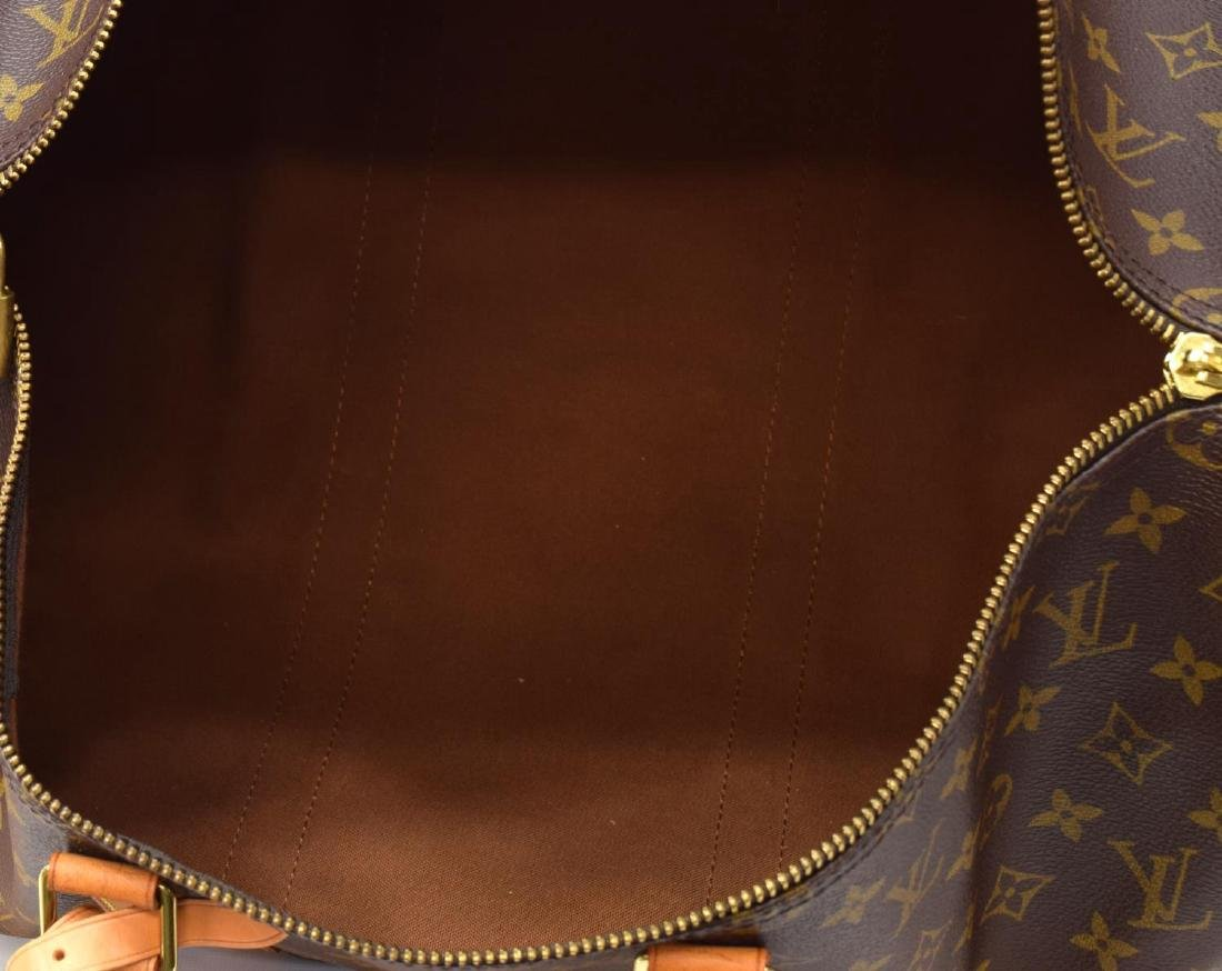 LOUIS VUITTON 'KEEPALL 50' MONOGRAM DUFFLE W/STRAP - 6
