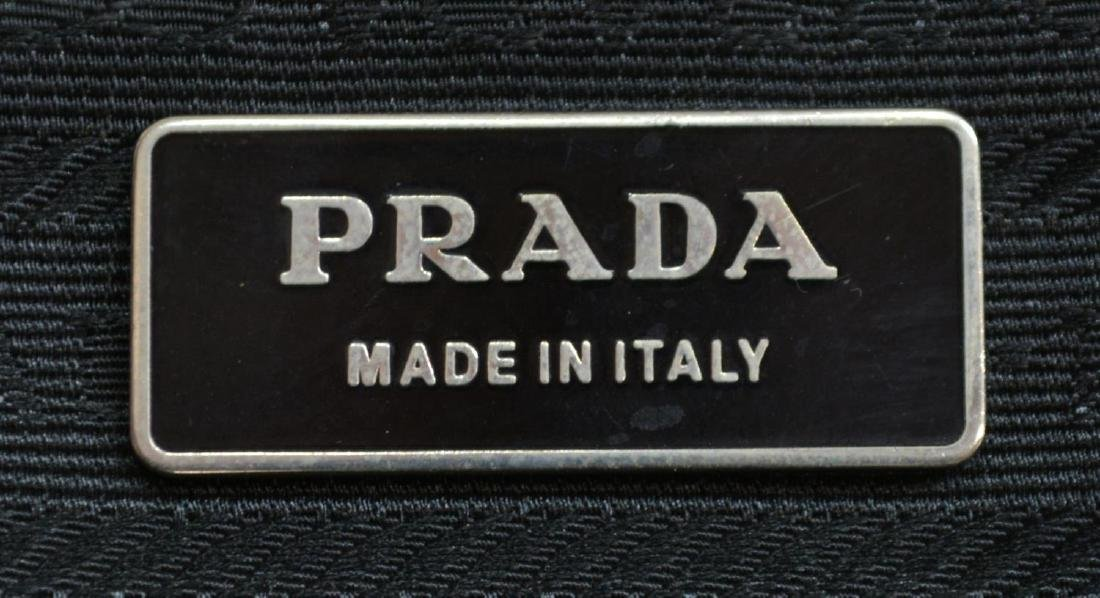 PRADA BLACK LEATHER DOUBLE HANDLED HANDBAG - 5