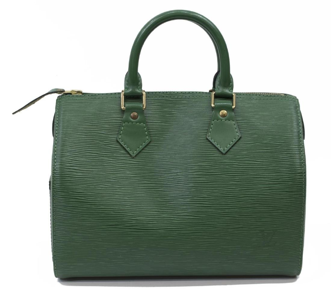 LOUIS VUITTON 'SPEEDY 30' GREEN EPILEATHER HANDBAG - 2