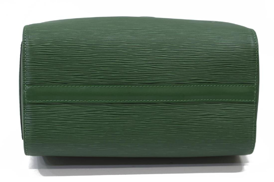 LOUIS VUITTON 'SPEEDY 30' GREEN EPILEATHER HANDBAG - 3
