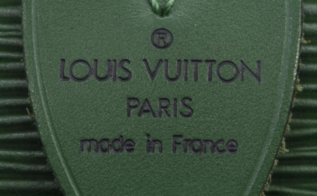LOUIS VUITTON 'SPEEDY 30' GREEN EPILEATHER HANDBAG - 4