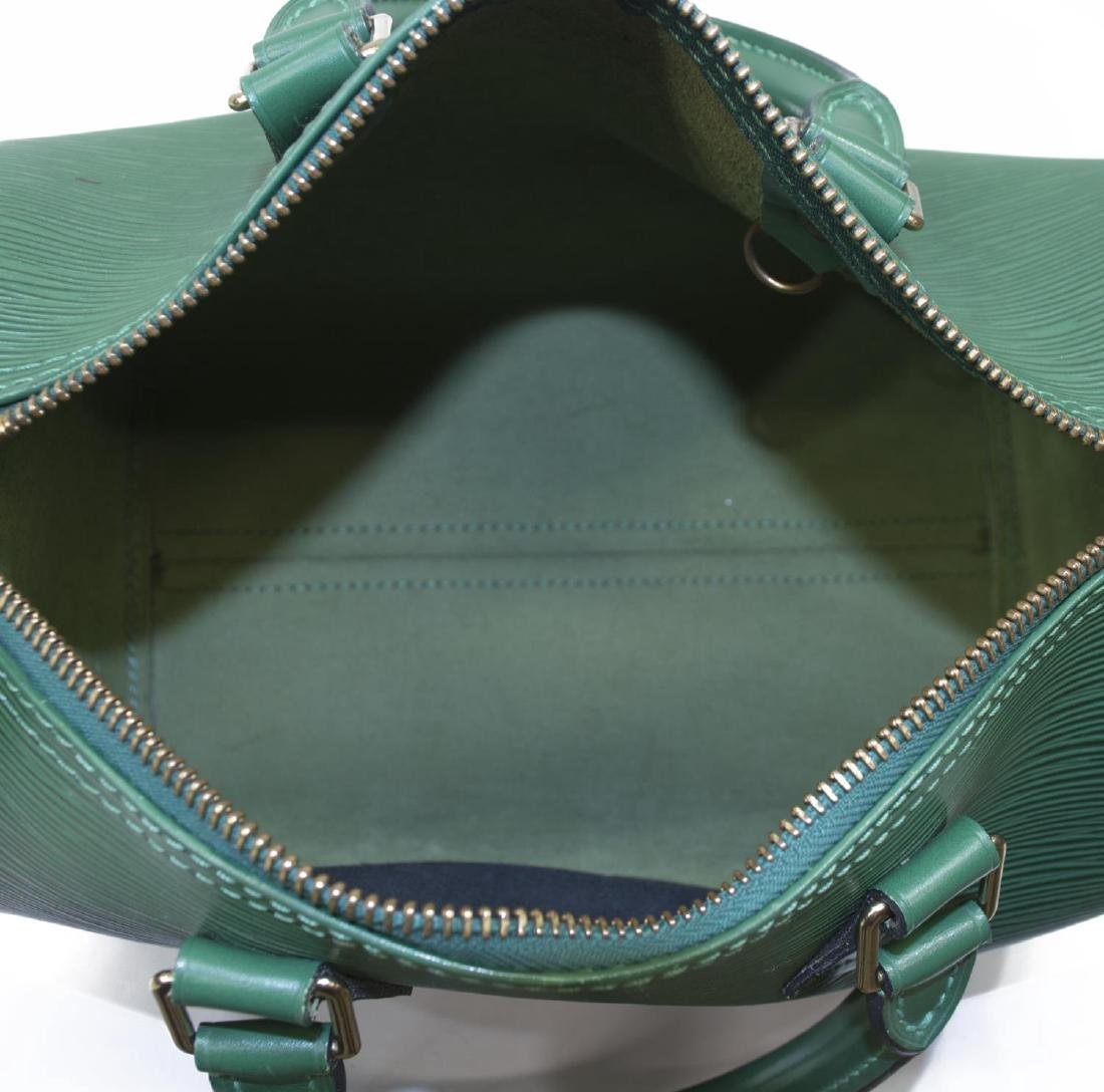 LOUIS VUITTON 'SPEEDY 30' GREEN EPILEATHER HANDBAG - 5