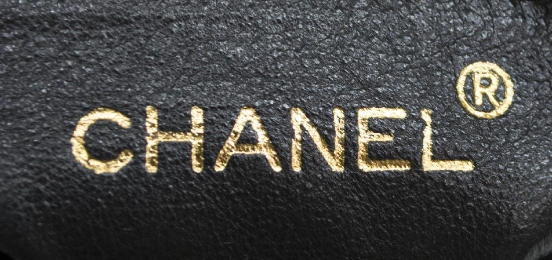 CHANEL BLACK QUILTED LEATHER TASSEL SHOULDER BAG - 4