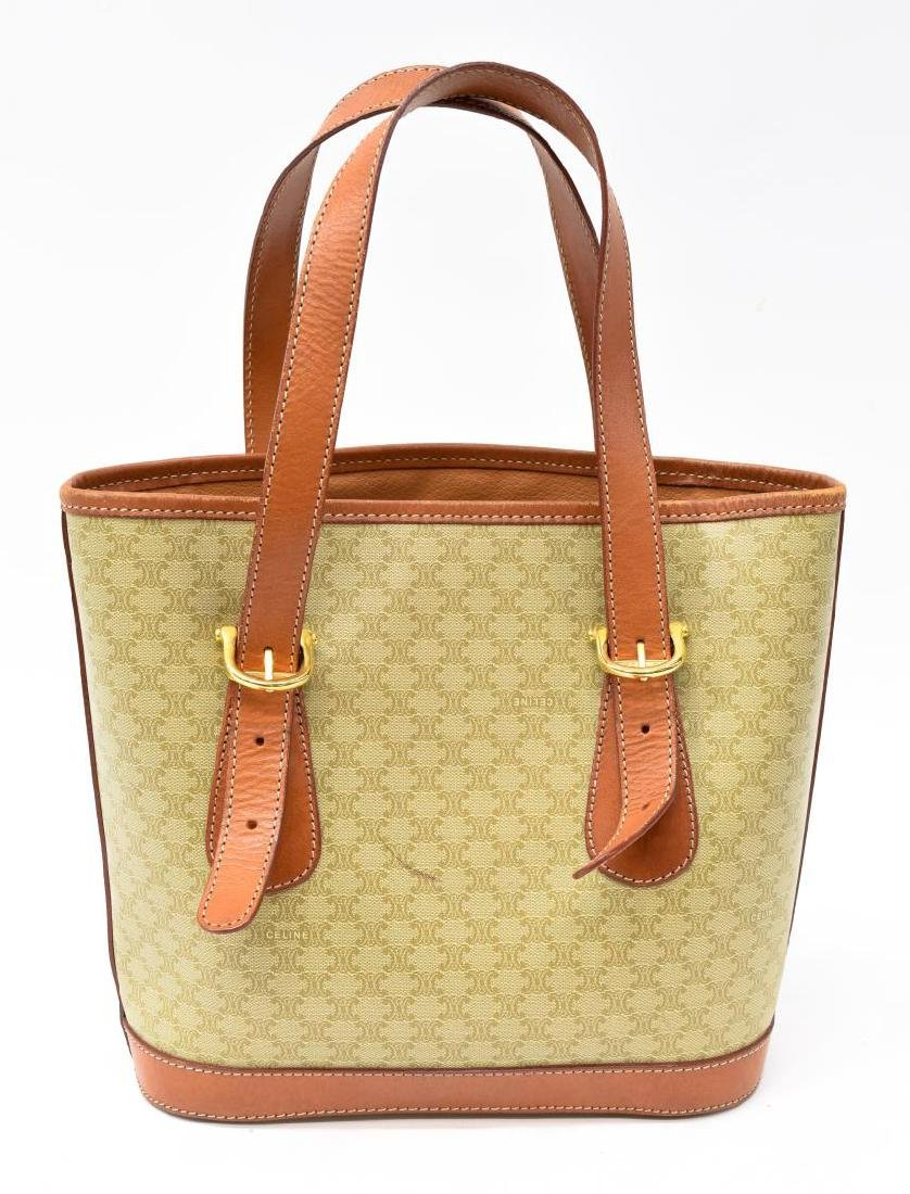 CELINE MACADAM MONOGRAM CANVAS TOTE/SHOULDER BAG