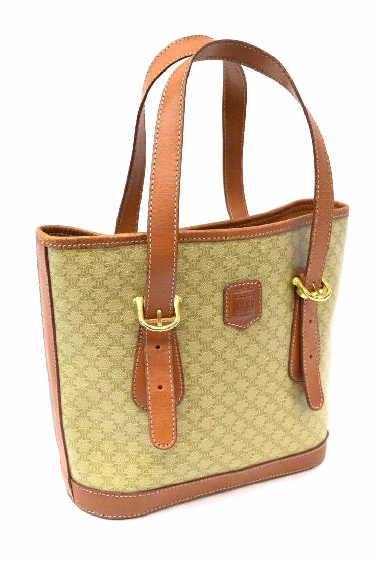 CELINE MACADAM MONOGRAM CANVAS TOTE/SHOULDER BAG - 2