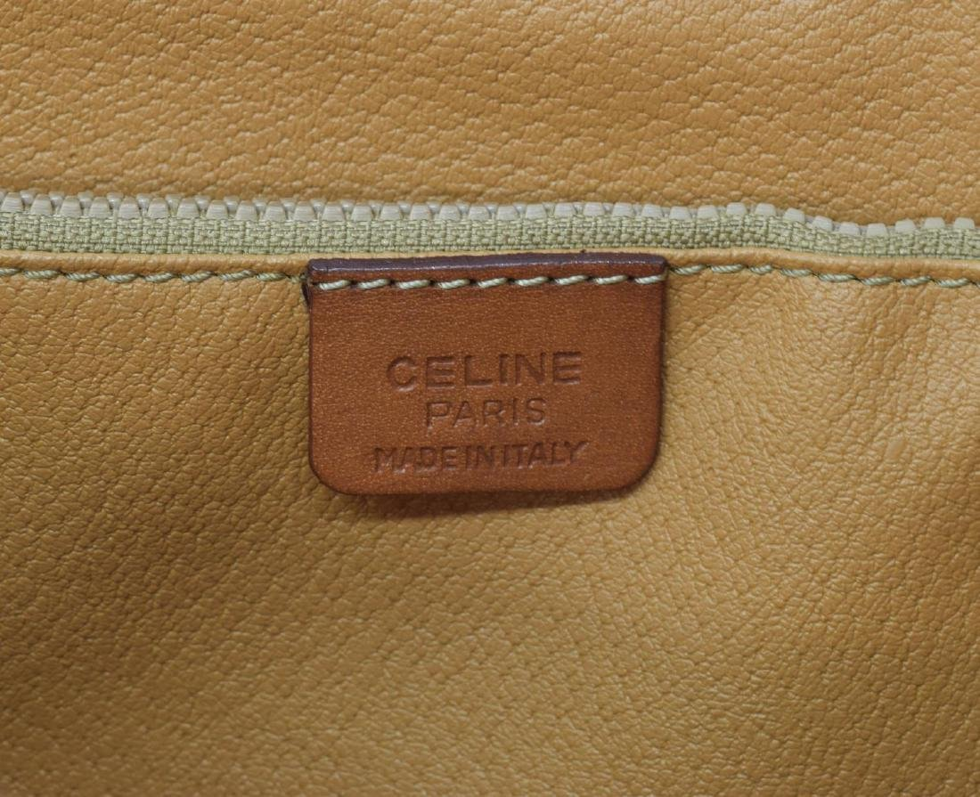 CELINE MACADAM MONOGRAM CANVAS TOTE/SHOULDER BAG - 5