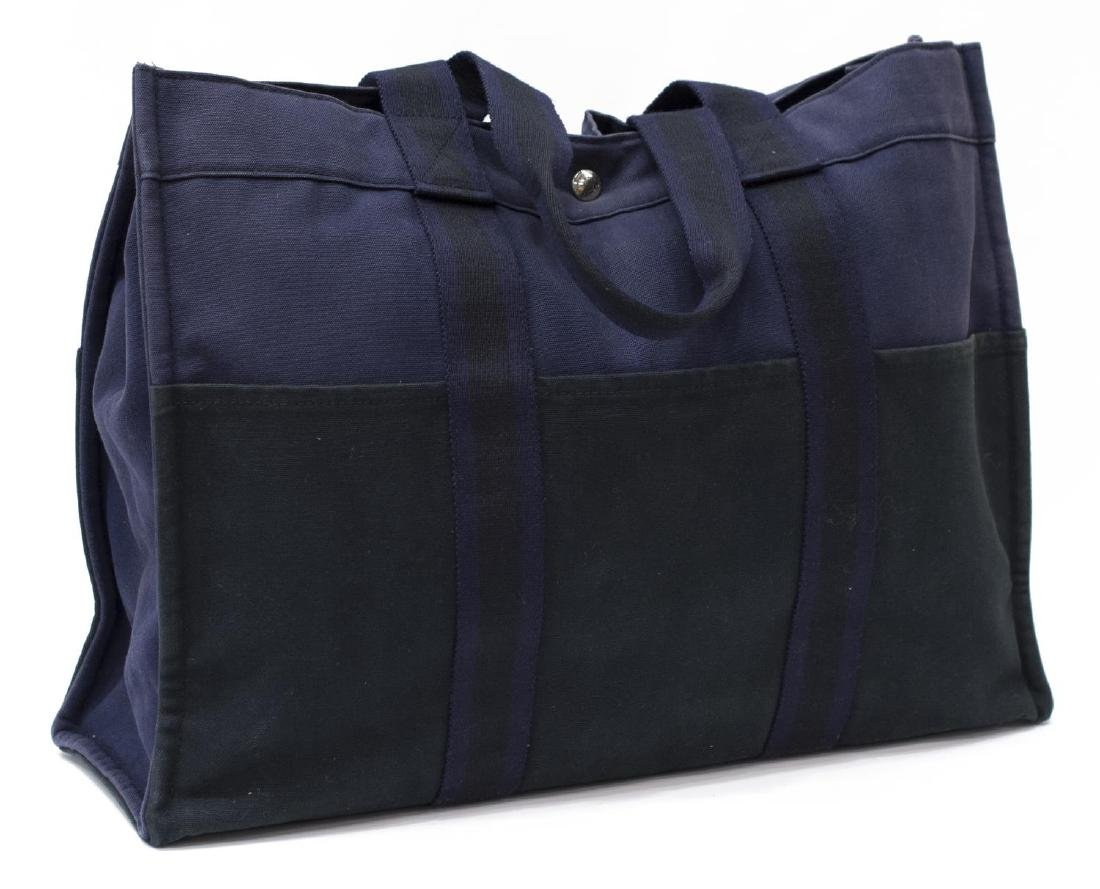HERMES WOVEN DOUBLE HANDLED TOTE LAPTOP BAG