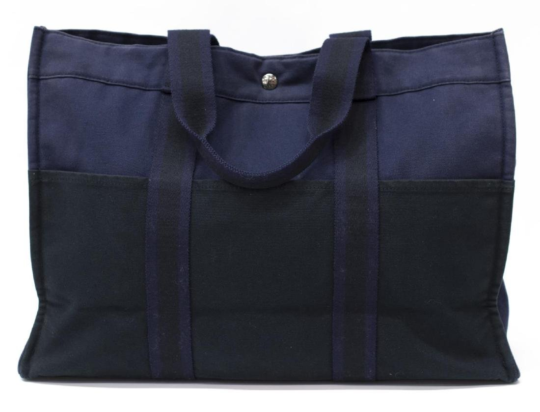 HERMES WOVEN DOUBLE HANDLED TOTE LAPTOP BAG - 2