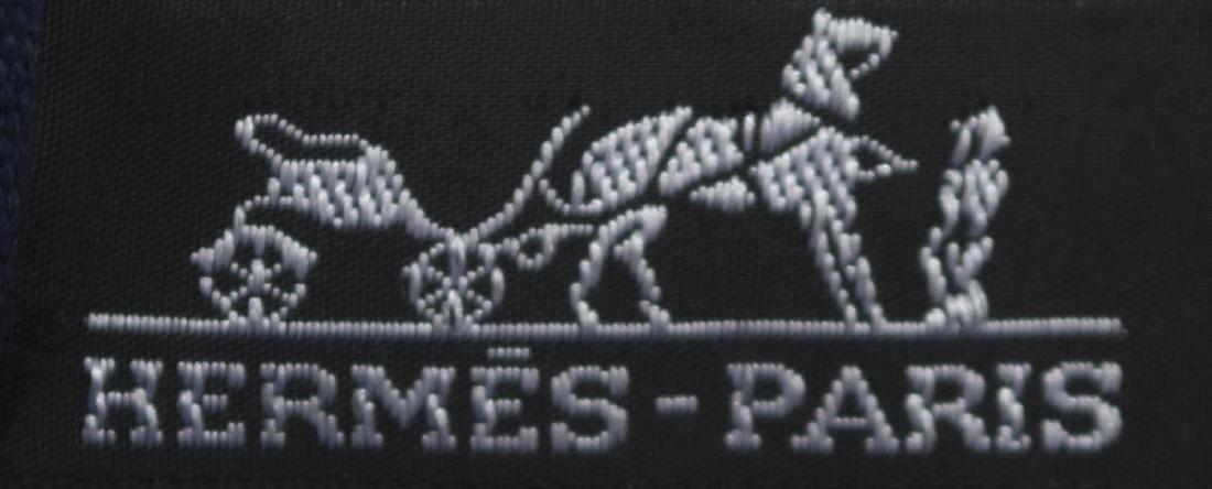 HERMES 'FOURRE TOUT' NAVY & BLACK CANVAS TOTE BAG - 4