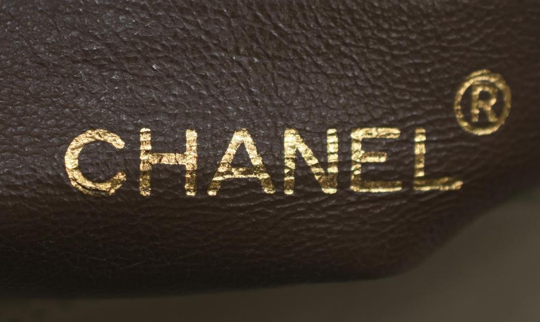 CHANEL DIAGONAL QUILTED BEIGE LEATHER SHOULDER BAG - 4
