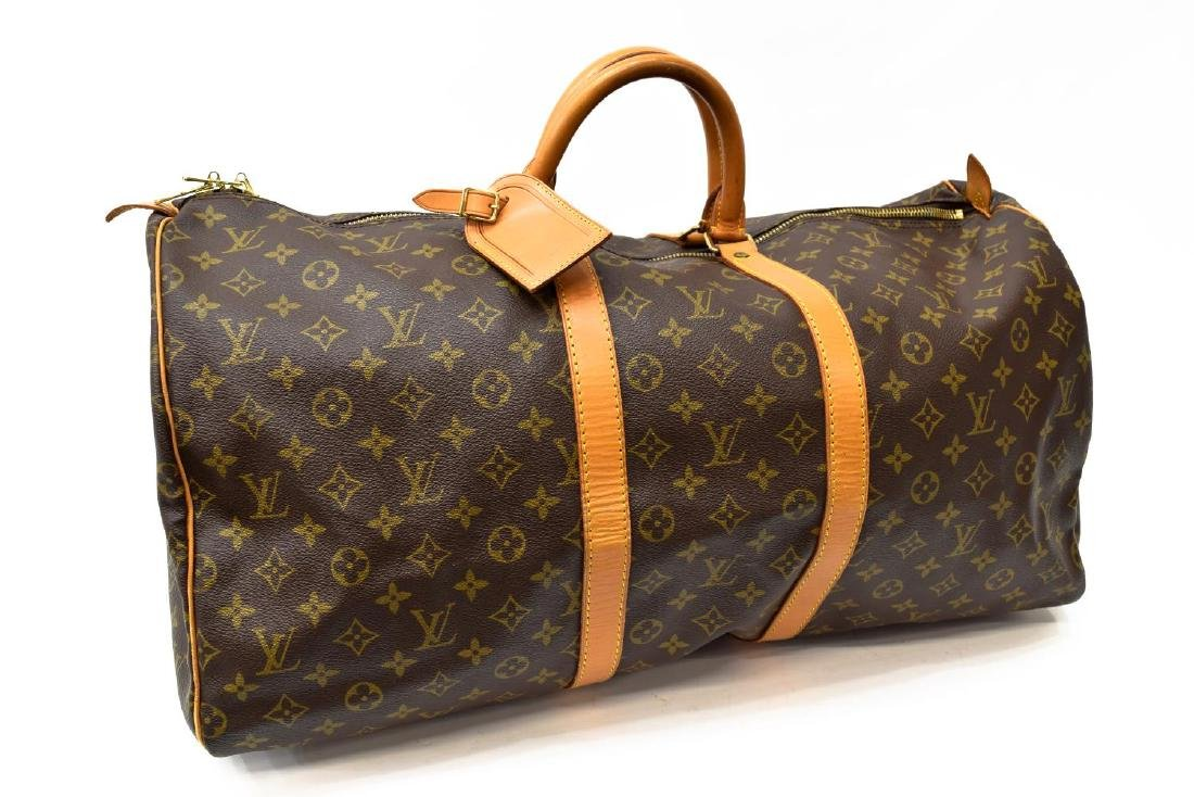 LOUIS VUITTON 'KEEPALL 55' MONOGRAM CANVAS DUFFLE