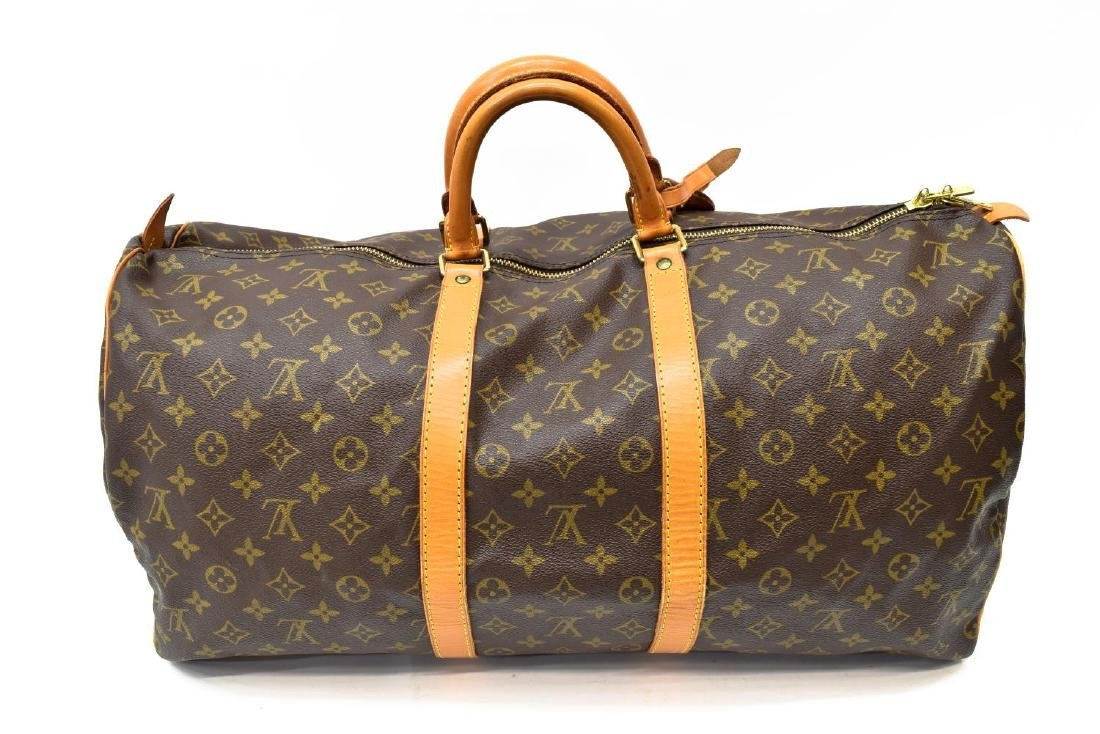 LOUIS VUITTON 'KEEPALL 55' MONOGRAM CANVAS DUFFLE - 2
