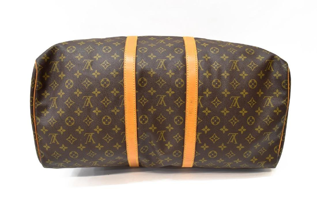 LOUIS VUITTON 'KEEPALL 55' MONOGRAM CANVAS DUFFLE - 3