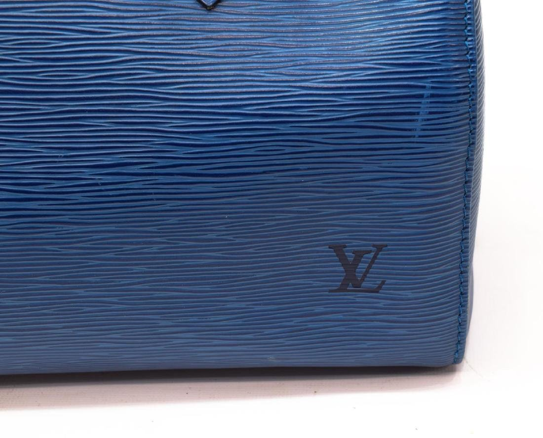 LOUIS VUITTON 'SPEEDY 30' BLUE EPI LEATHER HANDBAG - 3