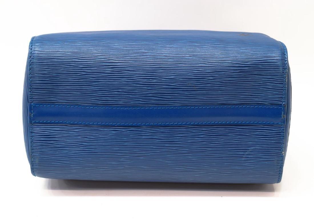 LOUIS VUITTON 'SPEEDY 30' BLUE EPI LEATHER HANDBAG - 5