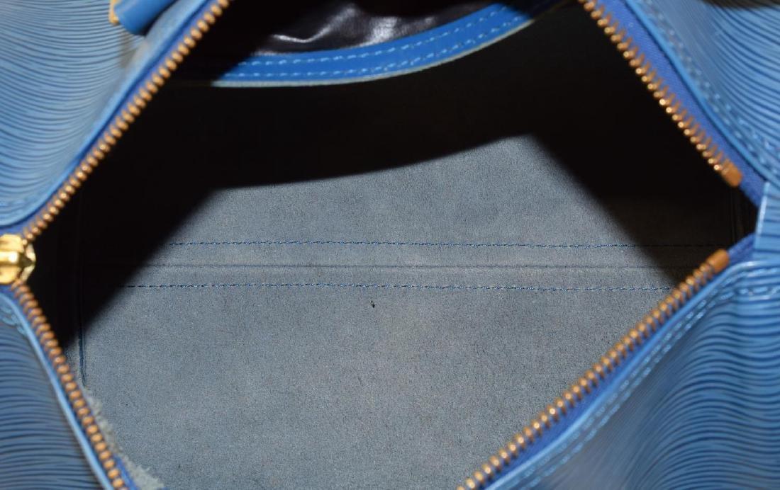 LOUIS VUITTON 'SPEEDY 30' BLUE EPI LEATHER HANDBAG - 6