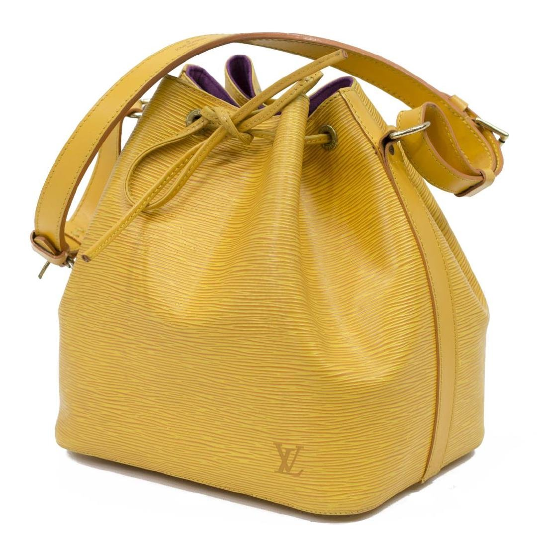 LOUIS VUITTON NOE PM YELLOW EPI LEATHER BUCKET BAG