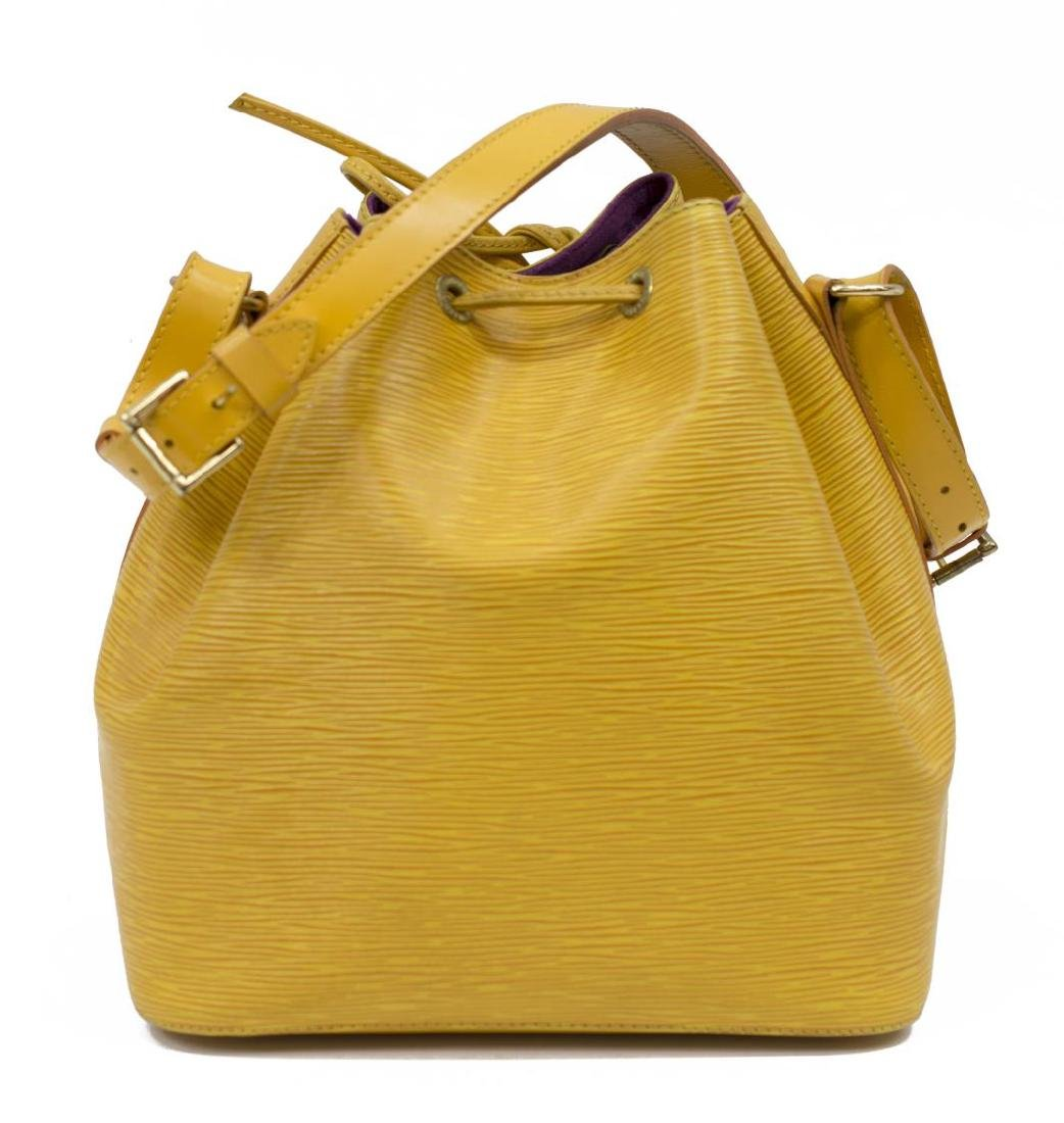 LOUIS VUITTON NOE PM YELLOW EPI LEATHER BUCKET BAG - 2