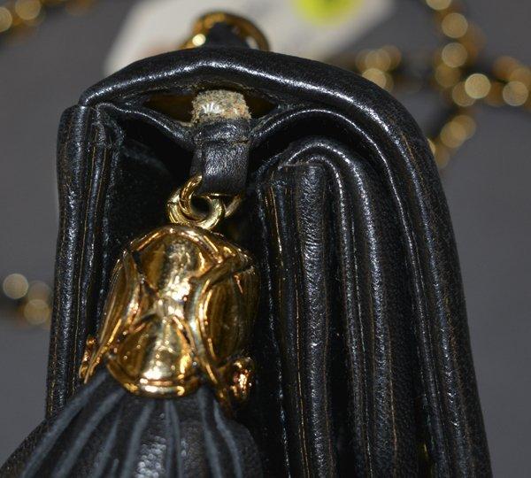 CHANEL QUILTED BLACK PATENT LEATHER SHOULDER BAG - 6