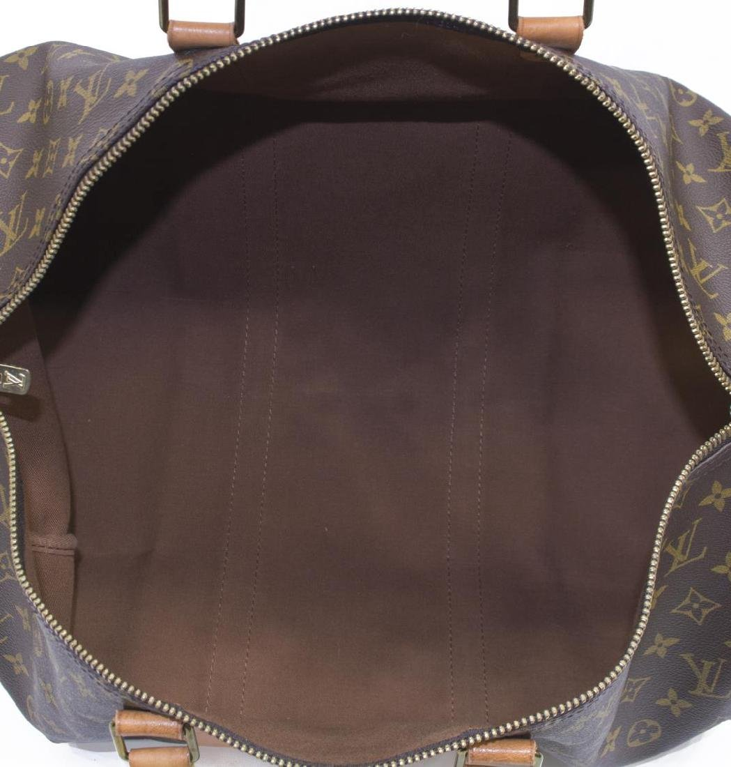 LOUIS VUITTON 'KEEPALL 50' MONOGRAM CANVAS DUFFLE - 5