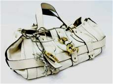 CHLOE KERALA CREAM WHITE GRAINED LEATHER PURSE