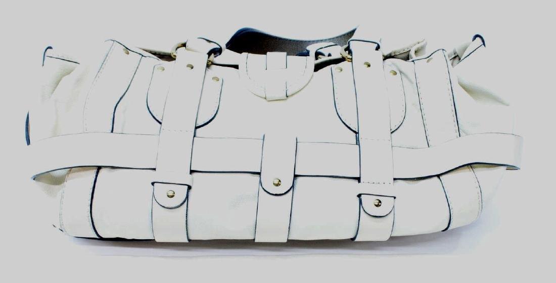 CHLOE 'KERALA' CREAM WHITE GRAINED LEATHER PURSE - 2
