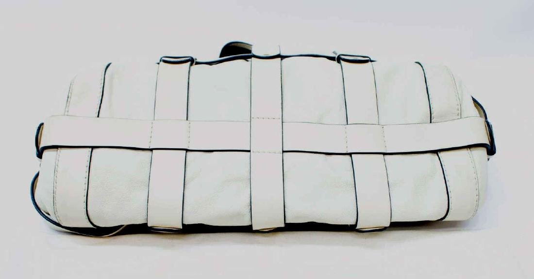 CHLOE 'KERALA' CREAM WHITE GRAINED LEATHER PURSE - 3
