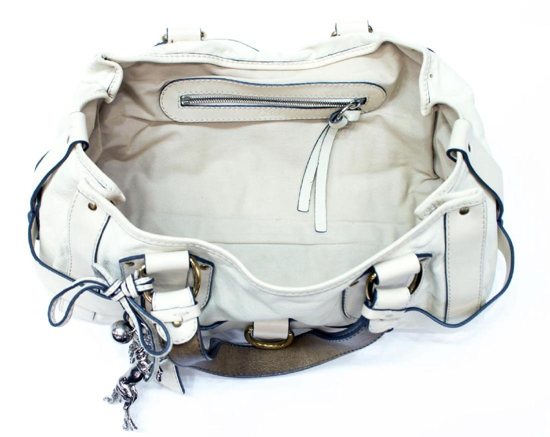CHLOE 'KERALA' CREAM WHITE GRAINED LEATHER PURSE - 4