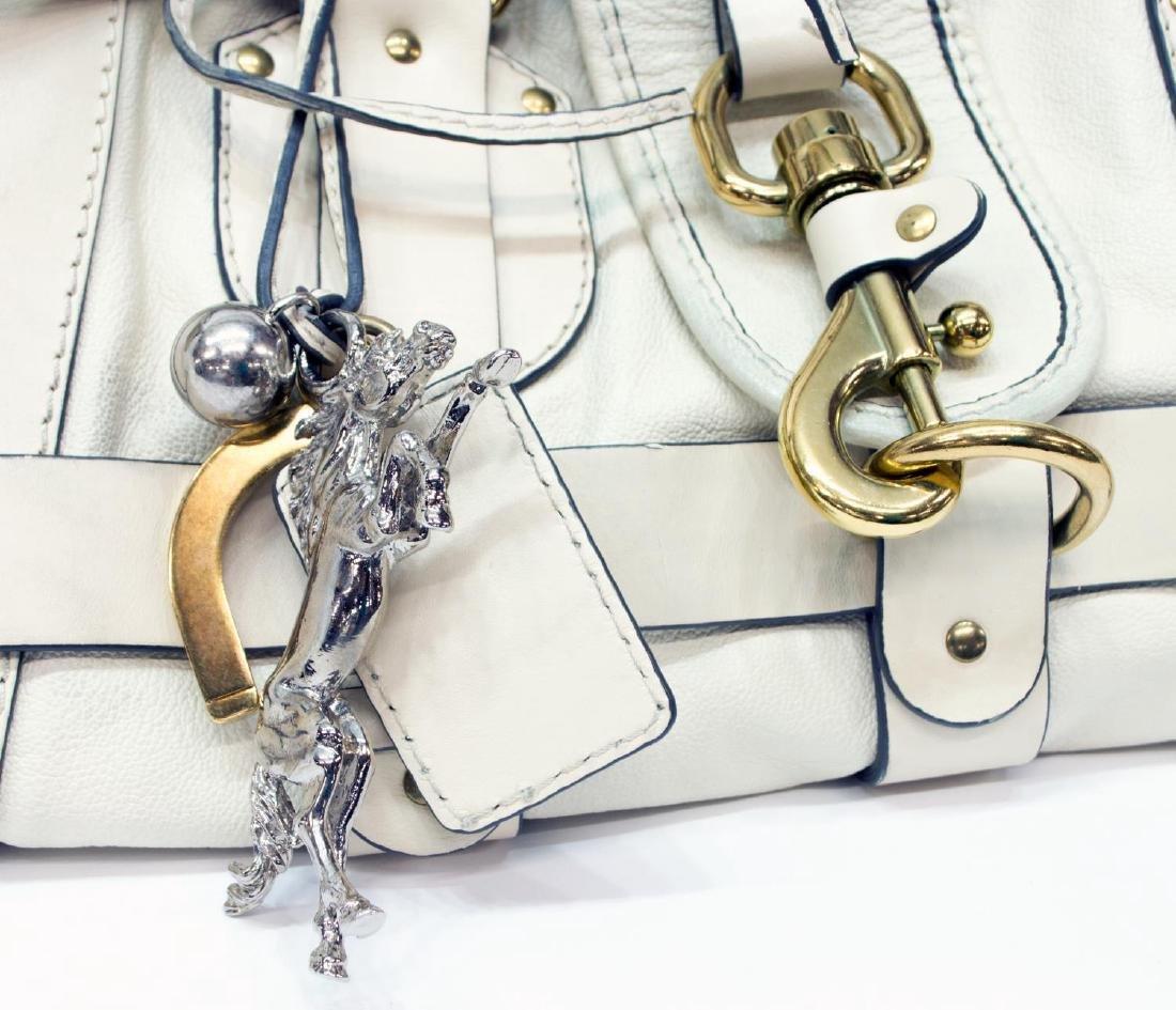 CHLOE 'KERALA' CREAM WHITE GRAINED LEATHER PURSE - 5