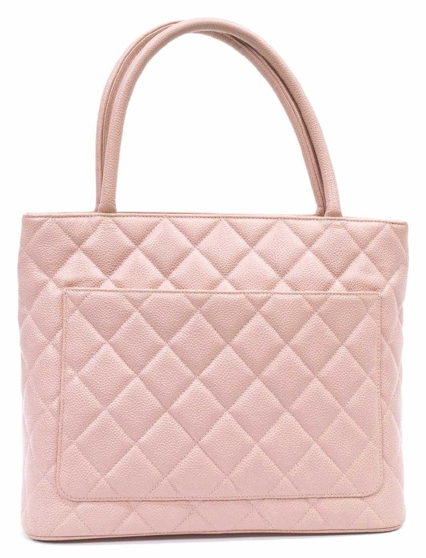 CHANEL 'MEDALLION' QUILTED CAVIAR LEATHER TOTE - 3