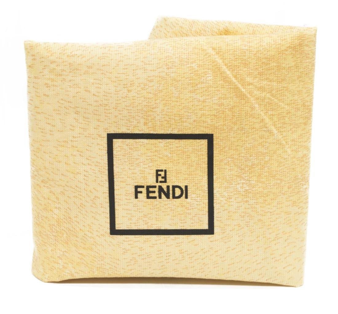 LARGE FENDI BLUE MONOGRAM CANVAS TOTE BAG - 7