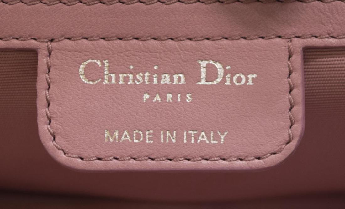 CHRISTIAN DIOR 'MISS DIOR' PINK CALF LEATHER BAG - 8