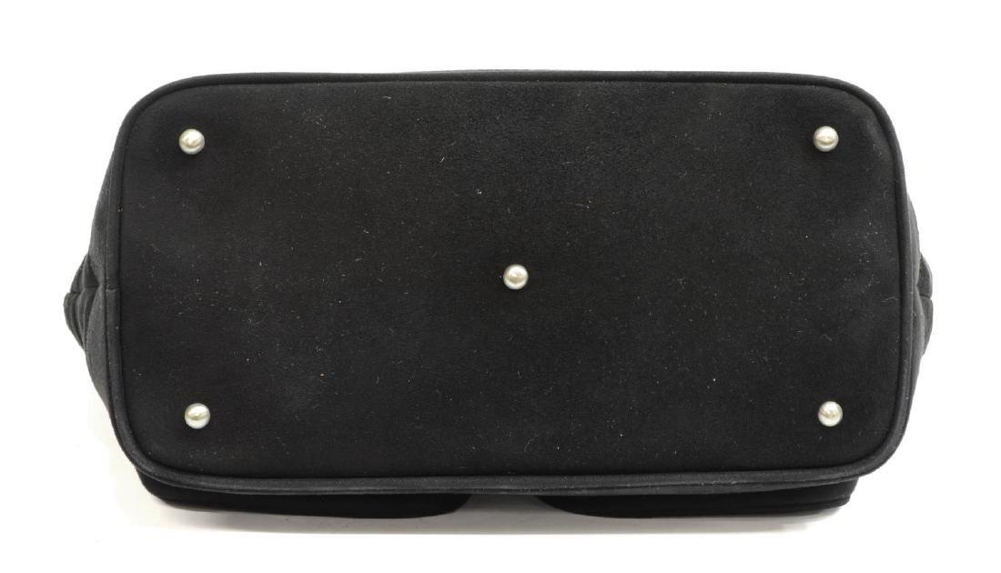 LOEWE SILVER & BLACK GRAINED NUBUCK HANDBAG - 3