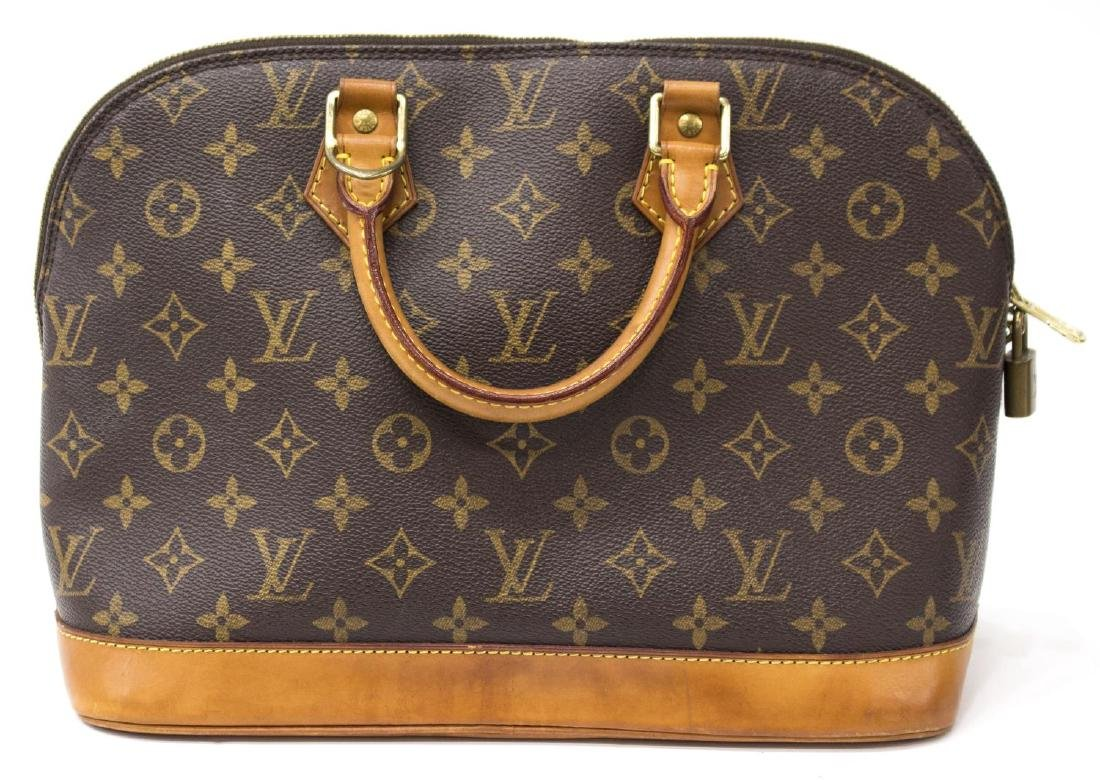LOUIS VUITTON 'ALMA' MONOGRAM CANVAS HAND BAG