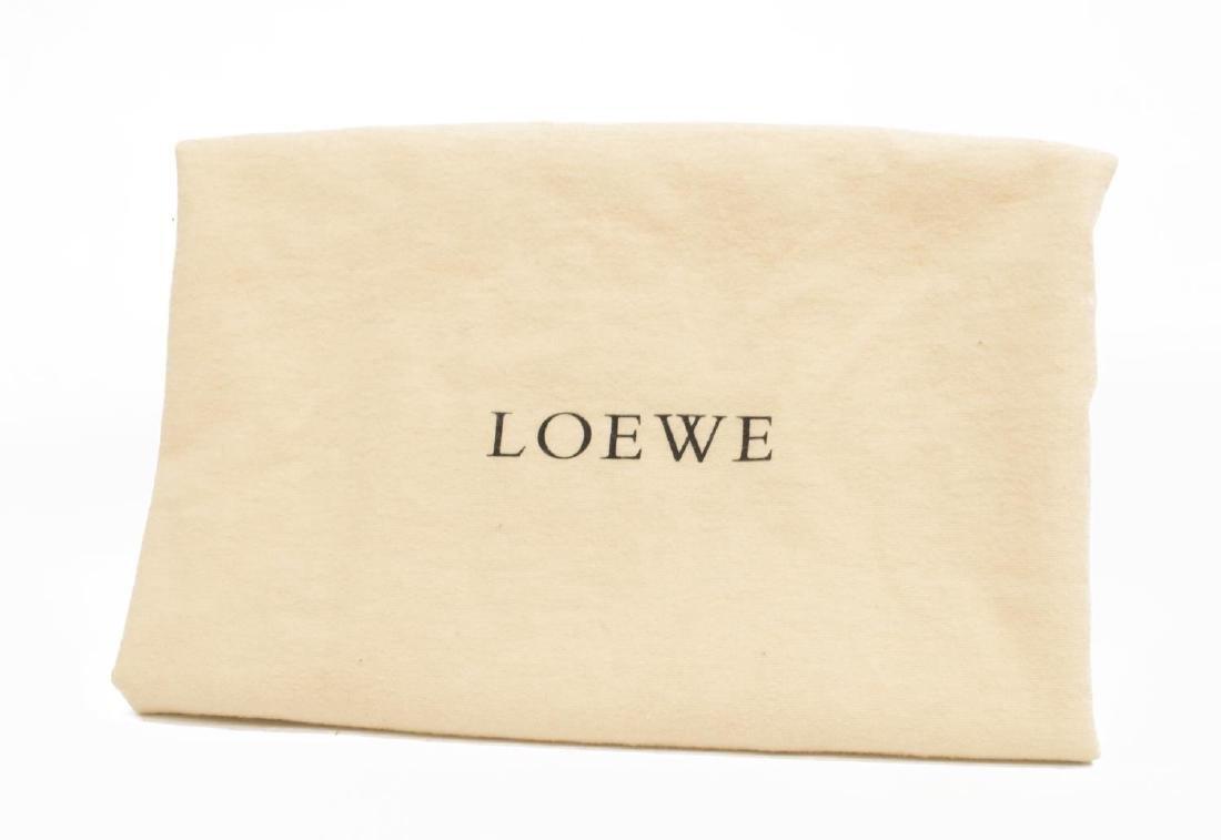 LOEWE 'DUO EYES' GOLD LEATHER TOTE BAG - 7