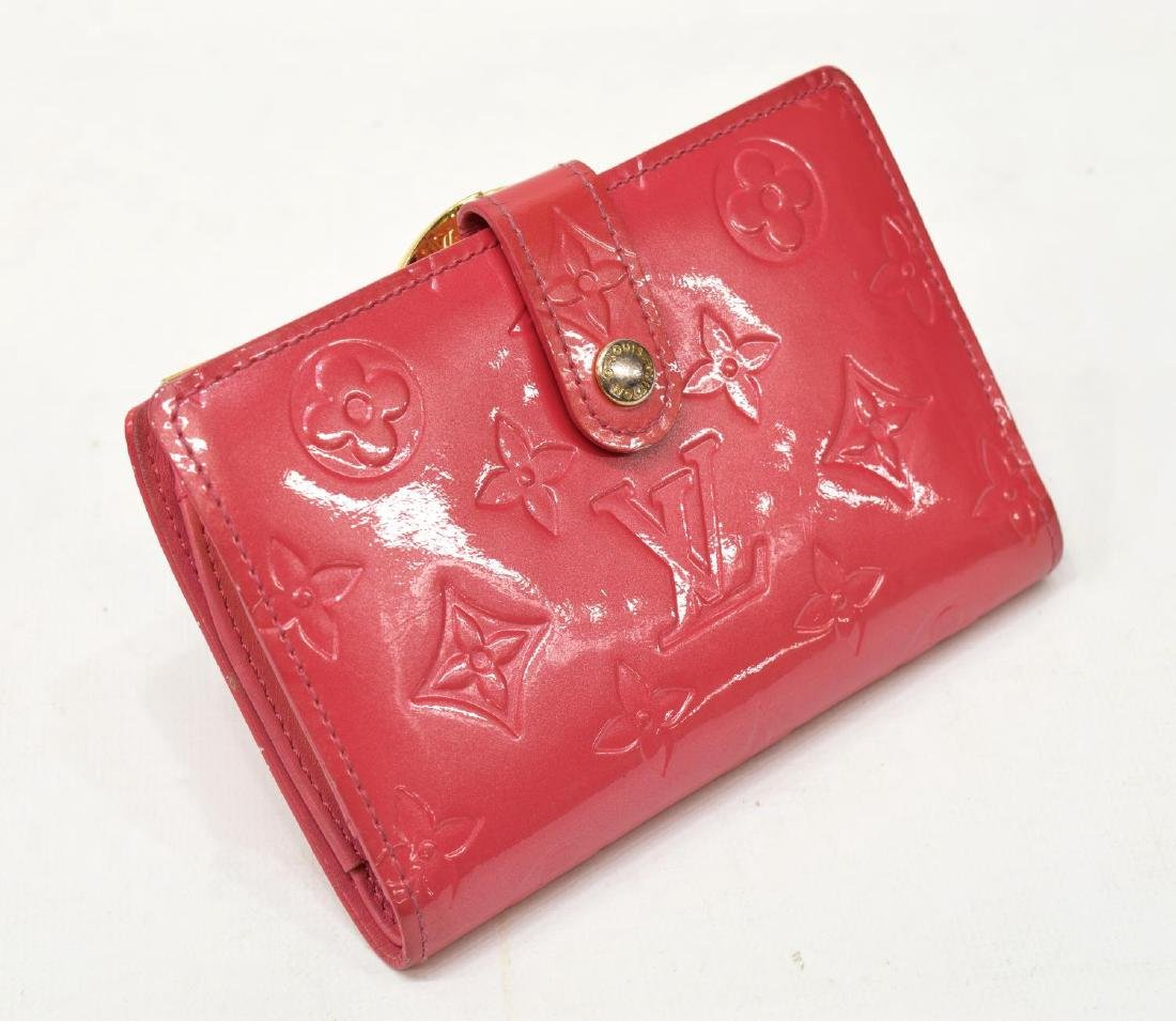 LOUIS VUITTON VIENNOIS PINK VERNIS MONOGRAM WALLET