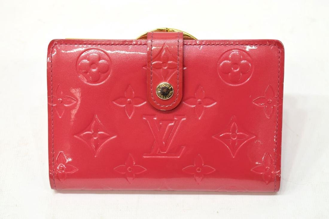 LOUIS VUITTON VIENNOIS PINK VERNIS MONOGRAM WALLET - 2
