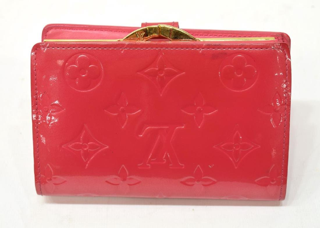 LOUIS VUITTON VIENNOIS PINK VERNIS MONOGRAM WALLET - 3