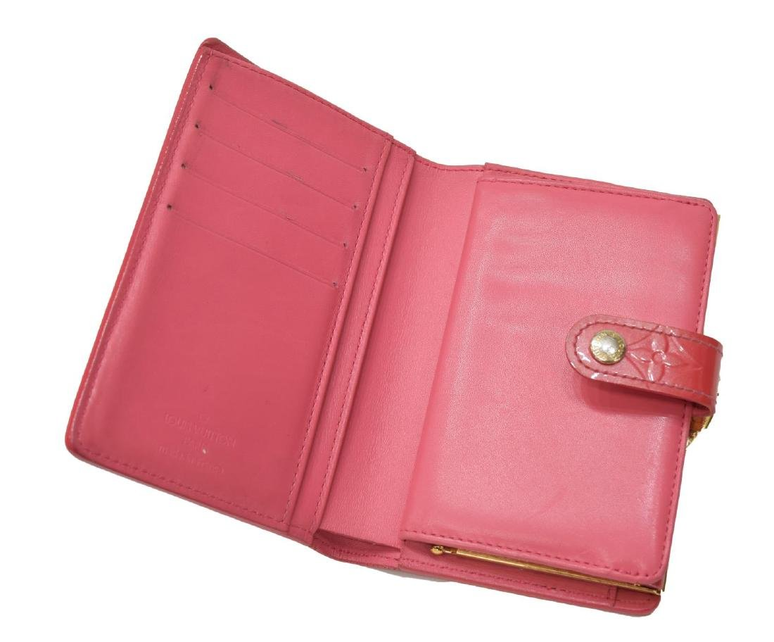 LOUIS VUITTON VIENNOIS PINK VERNIS MONOGRAM WALLET - 5